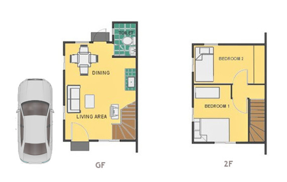 Mika Floor Plan House and Lot in Davao