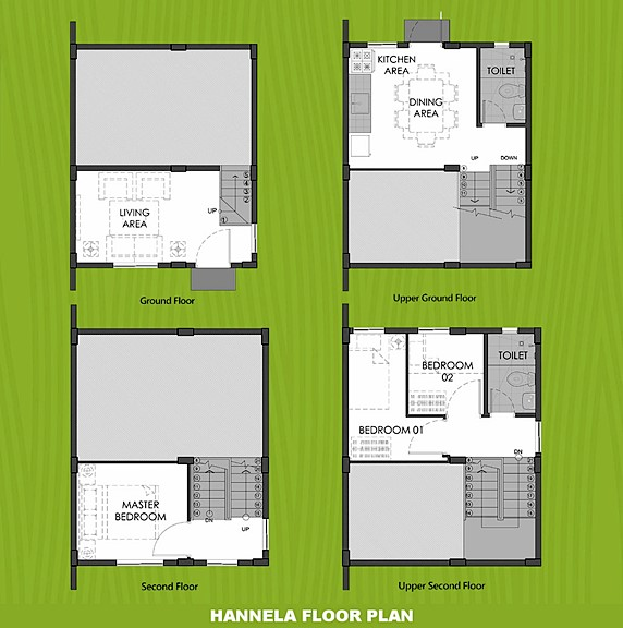 Hannela Floor Plan House and Lot in Davao