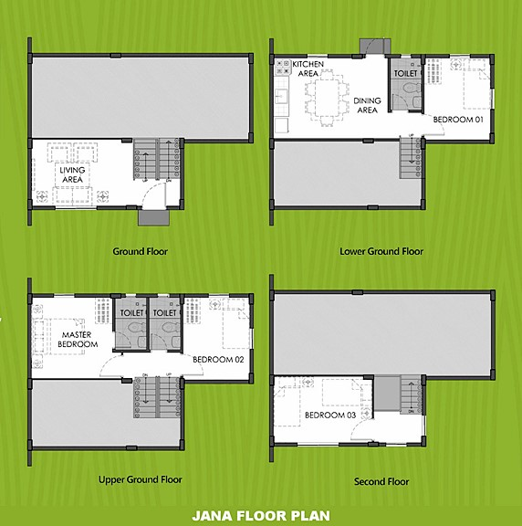 Janna Floor Plan House and Lot in Davao