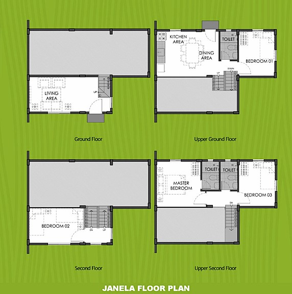 Janela Floor Plan House and Lot in Davao
