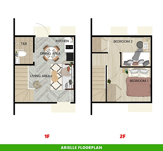 Arielle Floor Plan House and Lot in Davao