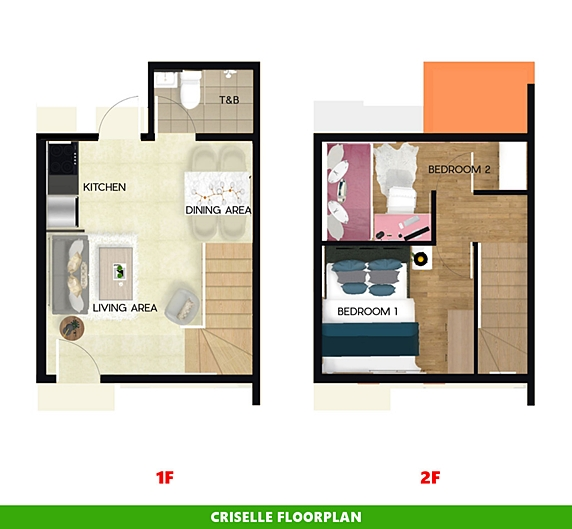 Criselle Floor Plan House and Lot in Davao