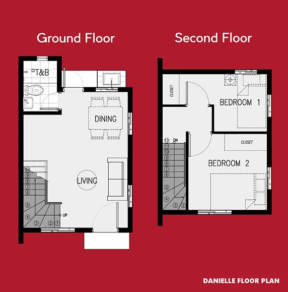 Danielle Floor Plan House and Lot in Davao