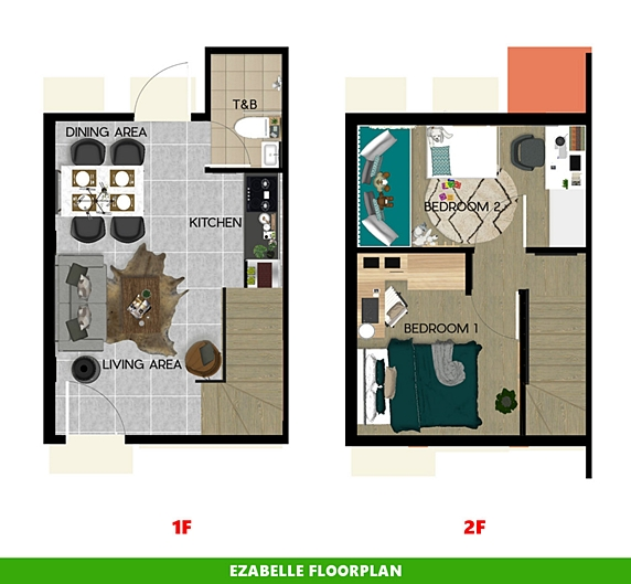 Ezabelle Floor Plan House and Lot in Davao