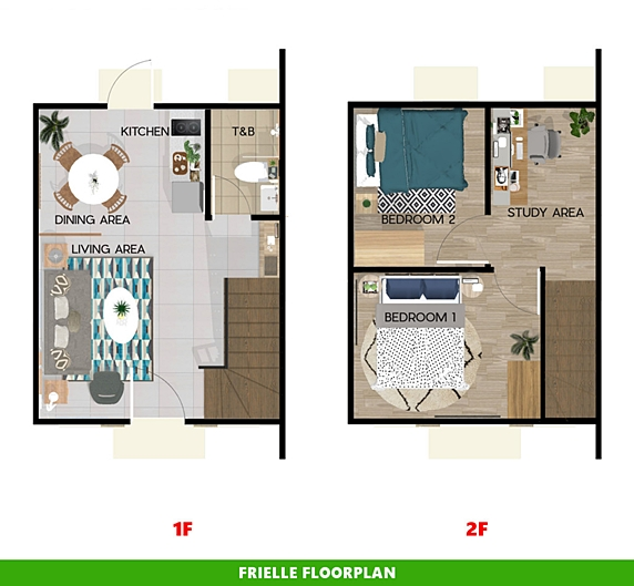 Frielle Floor Plan House and Lot in Davao