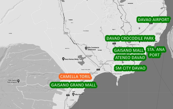 Davao Property Vicinity Map